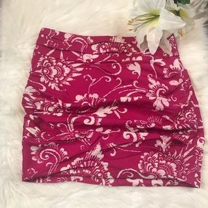 Anthropologie Leifsdottir Pink Sunda Mini Skirt
